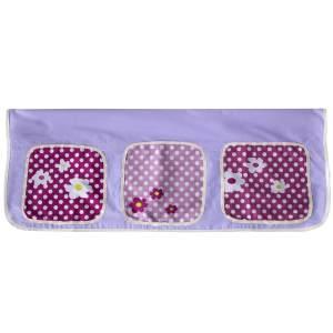 Betttasche Stofftasche Hochbett Bettzubehör Tasche Kinderbett Lila