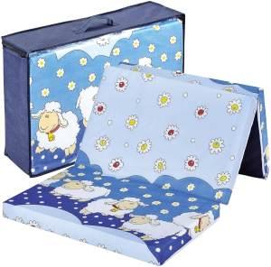 Bambini klappbare Reisebettmatratze Reisematratze 120x60 cm Schäfchen