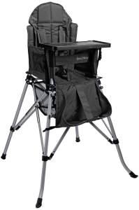 FemStar P71851-CMF-DT One2Stay Comfort, Faltbare Hochstuhl mit einer bequem und verstellbarer Rückenlehne, Abnehmbarer Esstisch, schwarz