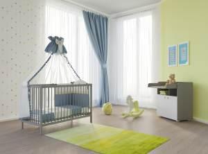 Polini Kids 2-tlg. Babyzimmer-Set grau/weiß