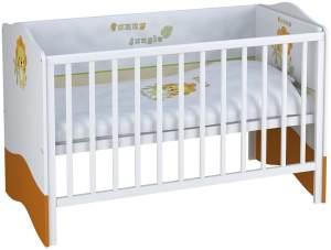 Polini Kids Kombi-Kinderbett 'Basic Jungle' weiß / orange