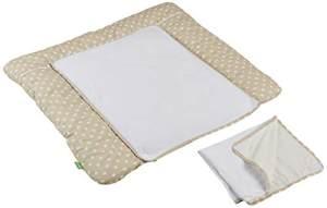 LULANDO 'Beige Dots' Wickelauflage 75 x 80 cm beige/weiß