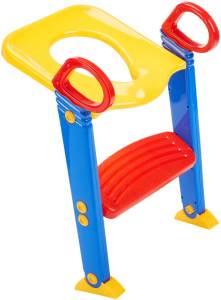 Keraiz Toiletten-Trainingshilfe für Kinder, für den Übergang von Töpfchen zu Toilette, Trittleiter und Sitz-Aufsatz, platzsparend