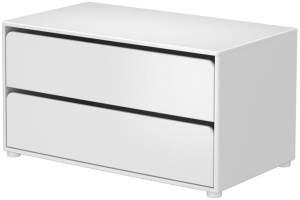 Flexa Cabby Kommode Weiß mit 2 Schubladen, Schrank Unterbau