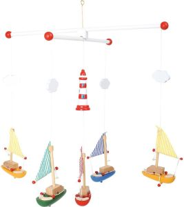 Small Foot 7205 - Mobile - Segelboote mit Leuchtturm