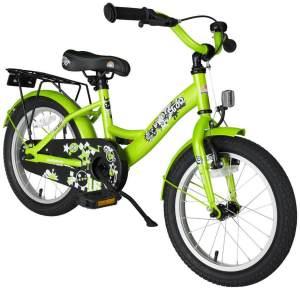 Bikestar Kinderfahrrad Classic Brilliant Grün 16 Zoll