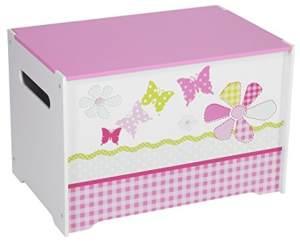 Worlds Apart 'Schmetterlinge und Blumen' Spielzeugkiste weiß/pink