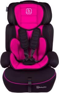 BabyGo 'Freemove' Autokindersitz in Pink, 9 bis 36 kg (Gruppe 1/2/3), umbaubar zur Sitzerhöhung