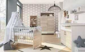 Schardt 'Clou Oak' 3-tlg. Babyzimmer-Set Schrank 2-türig