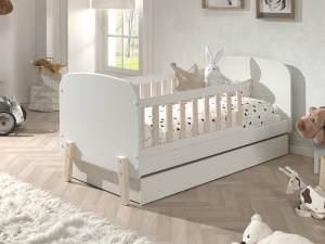 Bett Kinderbett mit Schublade Kiddy MDF und Kiefer 70x140 cm