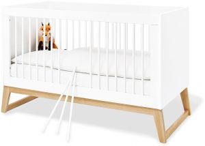 Pinolino 'Bridge' Kinderbett, Weiß, umbaubar, mit Schlupfsprossen, inkl. Umbauseiten, Lattenrost