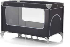 Fillikid Reisebett 60x120 cm mit Komfortmatratze, dunkelgrau melange