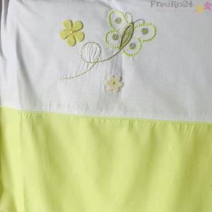 EASY BABY Wickelauflage 75/85 abnehmbarer Bezug Butterfly green