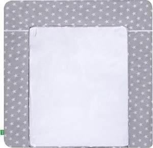 LULANDO Wickelauflage White Stars/grey 75 x 85 cm, weiß/grau