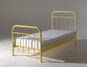 Vipack 'New York' Einzelbett gelb, 90x200 cm
