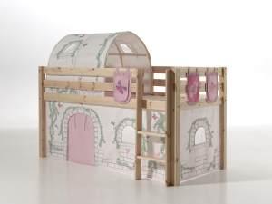 Vipack 'Pino' Spielbett natur, inkl. Vorhang, Tunnel und 3 Taschen 'Birdy'