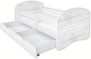 Clamaro 'Schlummerland Dekor' Kinderbett 80x180 cm, Design 15, inkl. Lattenrost, Matratze, Rausfallschutz und Schublade