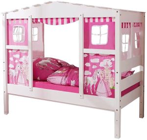 Ticaa 'Horse Pink' Hausbett Mini Kiefer Weiß