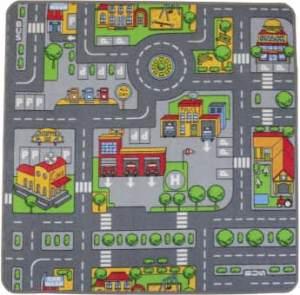 Spielteppich City - Maße: 100 x 100 cm