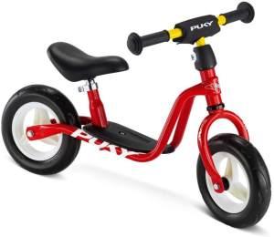 PUKY 4064 'LR M' Laufrad, für Kinder ab 85 cm Körpergröße, belastbar bis 25 kg, höhenverstellbar, rot