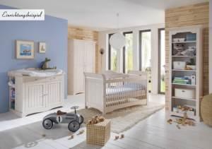 Steens 'Lotta' 4-tlg. Babyzimmer-Set white wash