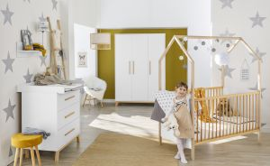 Kinderzimmer-Set 'Venice' mit Hausbett