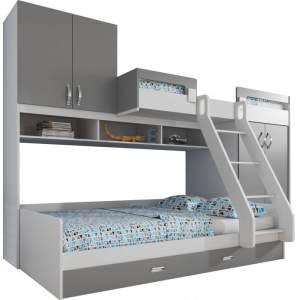 Jul Kinderbett weiß grau Kinderzimmer Möbel