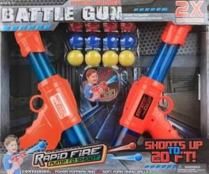 Pistolensatz Atombomben-Kampfpistole blau/orange