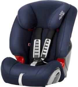 Britax Römer Kindersitz 9 Monate - 12 Jahre I 9 - 36 kg I EVOLVA 123 Autositz Gruppe 1/2/3 I Moonlight Blue