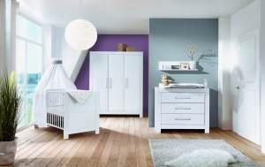 Schardt 'Nordic White' 3-tlg. Babyzimmer-Set Schrank 3-türig