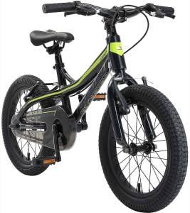 Bikestar Kinderfahrrad Mountainbike 16 Zoll Schwarz / Grün, inkl. V-Bremse