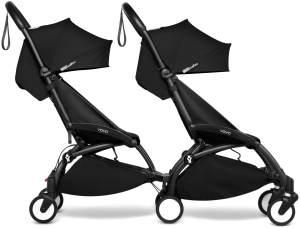 Babyzen YOYO2 schwarzer Rahmen mit CONNECT komplett für 2 Kinder ab 6 Monaten + Farbe schwarz