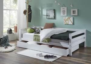 Relita 'Nora' Einzelbett weiß, inkl. Matratze und Bettkastenschublade