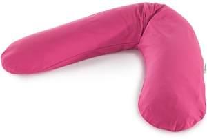 Das Original THERALINE Schwangerschafts- & Stillkissen | gefüllt mit sandfeinen Original-Mikroperlen | inkl. Außenbezug Fuchsia | 190 cm