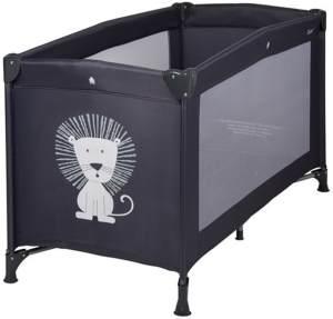 Quax Reisebett 60x120 cm Löwe schwarz inkl. Transporttasche