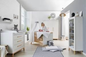 Schardt 'Miami White' 3-tlg. Babyzimmer-Set, weiß, 3-türiger Schrank