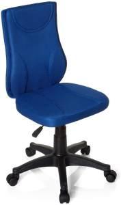 hjh OFFICE 670430 Kinder Schreibtischstuhl KIDDY BASE Netz-Stoff Blau Drehstuhl Ergonomisch Höhenverstellbar