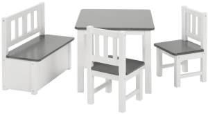 Bomi 'Anna' Kindersitzgruppe grau/weiß