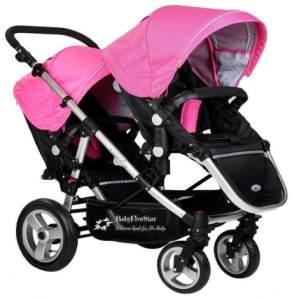 Babyfivestar Geschwisterwagen / Zwillingswagen Pink / Black