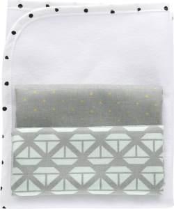 MOTHERHOOD Baby Wickelunterlage wasserdicht und luftdurchlässig inkl. 2 Moltonunterlagen aus 100 % Baumwolle, Schiffe mitgrün