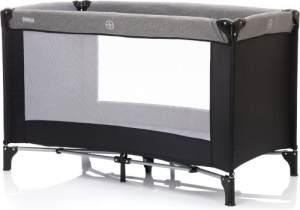 Fillikid Reisebett Basic ca. 125x65 cm grau-schwarz