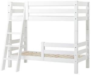 Hoppekids 'Premium' Etagenbett schräge Leiter, 70 x 160 cm, inkl. Rollroste und extra Schutzvorrichtung