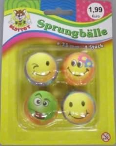 Besttoy Sprungball-Set - Smiley ca. 35 mm