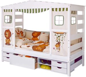 Ticaa 'Safari' Hausbett weiß inkl. Bettkasten 'Marlies'