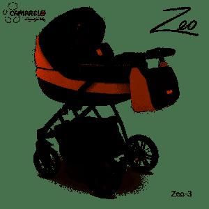 Camarelo Zeo - 3in1 Kombikinderwagen - Zeo-3 schwarz/ braun