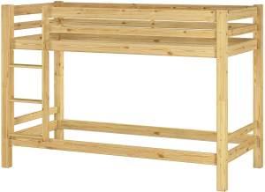Erst-Holz '60.09-09' Etagenbett 90x200 cm, natur, Kiefer massiv (ohne Rollrost)