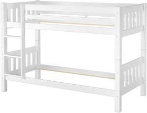 Erst-Holz 60.06-09 Etagenbett 90x200 cm, weiß, Kiefer massiv