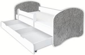 Clamaro 'Schlummerland Dekor' Kinderbett 80x180 cm, Design 23, inkl. Lattenrost, Matratze, Rausfallschutz und Schublade