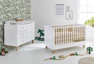 Pinolino 'Pan' 2-tlg. Babyzimmer-Set weiß, breit