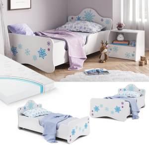 VitaliSpa 'Schneeflocke' Kinderbett 80x160cm, weiß, inkl. Lattenrost, Matratze und Rausfallschutz
